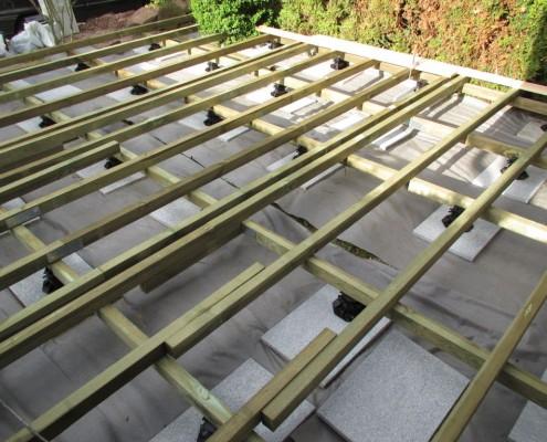 Unterkonstruktion Holzterrasse
