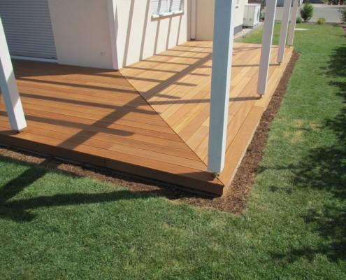 Holzterrasse Terrassendielen aus Bankirai