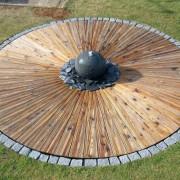 Douglasien Rondell mit Granit