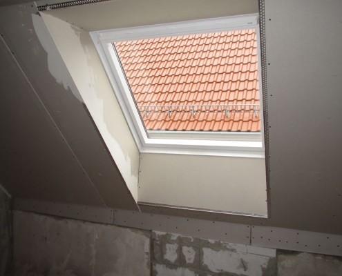 Dachfensterverkleidung, Trockenbau